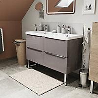 Meuble sous vasque à suspendre GoodHome Imandra gris taupé 120 cm