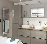 Meuble sous vasque à suspendre GoodHome Imandra taupe 120 cm + plan de toilette Hartland 183 cm (à redécouper)