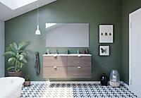 Meuble sous vasque à suspendre Randal Bosc 120 cm + plan vasque