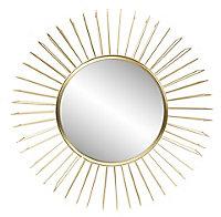 Miroir ⌀47cm Design doré