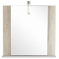Miroir bois Cooke & Lewis Amazon 60 cm