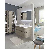 Miroir éclairant LED 100 x 70 cm Vague
