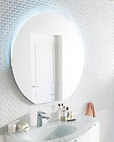 Miroir éclairant LED Bluetooth Vague 100 x 100 cm