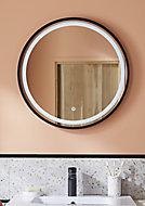 Miroir éclairant LED Naos Black Ø 60 cm