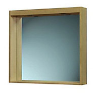 Miroir lumineux bois chêne naturel Cooke & Lewis Isle 75 cm