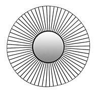 Miroir métal rond filaire noir diam.60cm