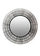 Miroir métal rond filaire noir diam.80cm