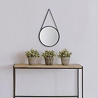 Miroir rond à lanière Ø30 cm