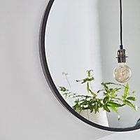 Miroir rond à lanière Ø50 cm
