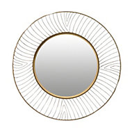 Miroir rond métal doré diam. 50 cm