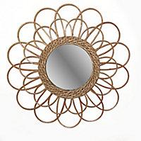 Miroir rotin Ø56 cm