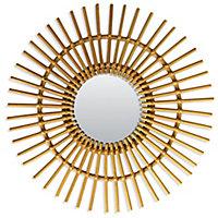 Miroir rotin Ø58 cm