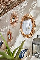 Miroir rotin ovale Dada Art 48 x 58 cm