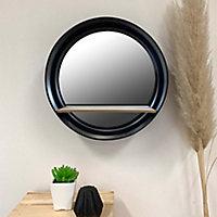 Miroir tablette Ø30 cm Japan noir