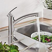Mitigeur de cuisine avec douchette supersteel chromé Grohe Start