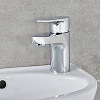 Mitigeur de lavabo chromé GoodHome Cavally S