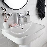 Mitigeur de lavabo chromé GoodHome Teesta L