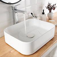 Mitigeur de lavabo chromé GoodHome Teesta XL