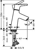 Mitigeur de lavabo chromé Talis S 80 Hansgrohe