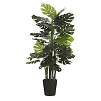 Monstera artificiel en pot plastique vert ø80 x h.140 cm