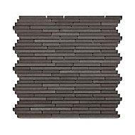 Mosaïque barettes 30,5 x 30,5 Basalte