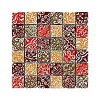 Mosaïque Baroque marron 30,5 x 30,5 cm
