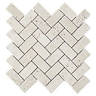 Mosaïque beige 28,5x31cm Travertino