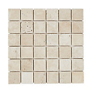 Mosaïque beige 30,5x30,5cm Travertino