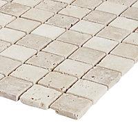 Mosaïque beige 30,5x30,5cm Travertino