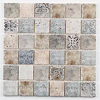 Mosaïque beige 4,8 x 4,8 cm Tahat travertin pierre naturelle