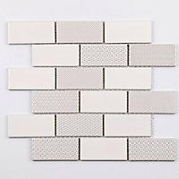 Mosaïque blanc 33,6 x 28,1 cm Louise