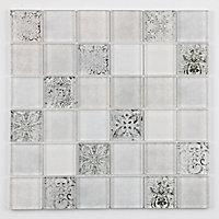Mosaïque blanc 4,8 x 4,8 cm Antigua