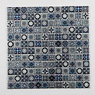 Mosaïque bleu 2,3 x 2,3 cm Leo