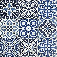 Mosaïque bleu 30x30cm