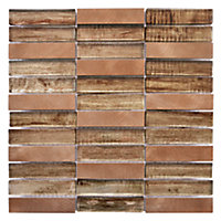 Mosaïque Briquette fantasia copper