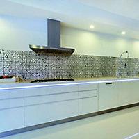 Mosaïque carreaux de ciment gris 30 x 30 cm