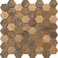 Mosaïque cuivre 29,9x29,6cm Enaide