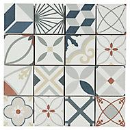 Mosaïque décoratif 30x30 cm multicolorec