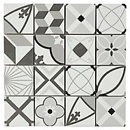 Mosaïque décoratif 30x30 cm noir et blanc