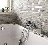Mosaïque en verre gris Bois Brillant 34 x 29,5 cm
