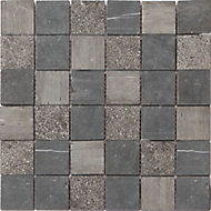 Mosaïque gris clair 30x30cm Blue stone
