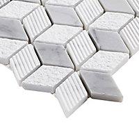 Mosaïque gris et blanc 25,3x29,3cm Ultimate marble