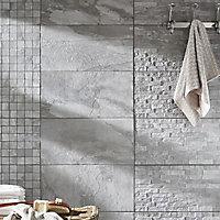 Mosaïque grise 30 x 30 cm Grande Norde