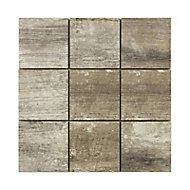 Mosaïque grise vintage 10 x 10 cm