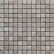 Mosaïque marbre rustic beige 30 x 30 cm