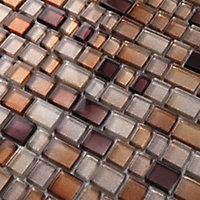 Mosaïque marron 30,7x31,3cm Saphyr
