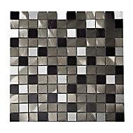 Mosaïque marron métal 30 x 30 cm Jada