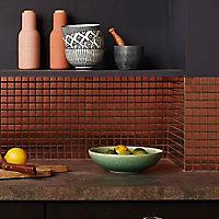 Mosaïque mur cuivre 30 x 30 cm Kosuke