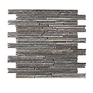 Mosaïque mur gris effet pierre 30 x 30 cm Grande Nord