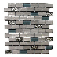 Mosaïque mur mix pierre 30 x 30 cm Benito